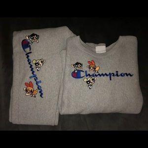 power puff girls champion sweatsuit